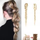 Zopf Haarteil Hell Blond 1