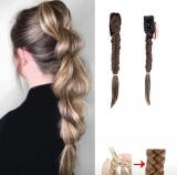 Zopf Haarteil Braun 6